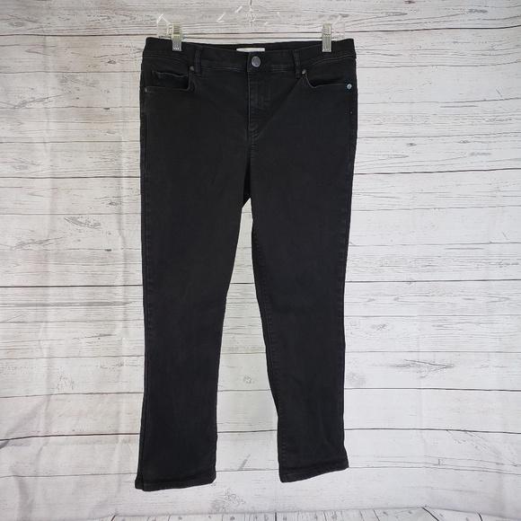 LOFT Denim - LOFT Modern Kick Crop Jeans Sz 10 Black